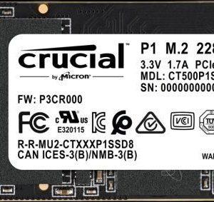 ổ Cứng Ssd Crucial P1 500gb M.2 2280 Nvme 1024x283