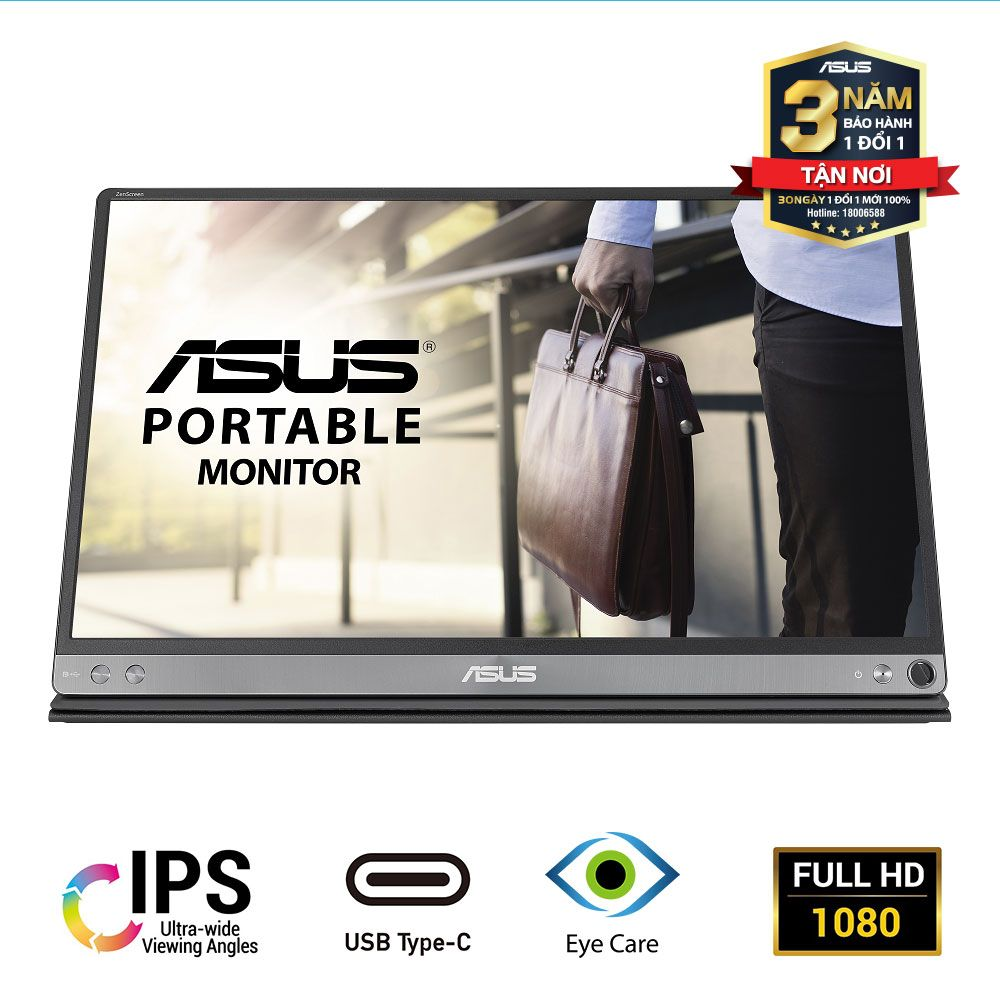 1 Man Hinh Roi Di Dong 15.6 Inch Asus Mb16ac Ips Usb Type C Full Hd Bao Ve Mat